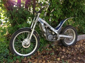 A 2005 Sherco 290. Good beginner bike for adults. 2nd or 3rd hand for about $3000 - $3500.